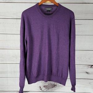 Bloomingdale's • XL seater crewneck wool purple